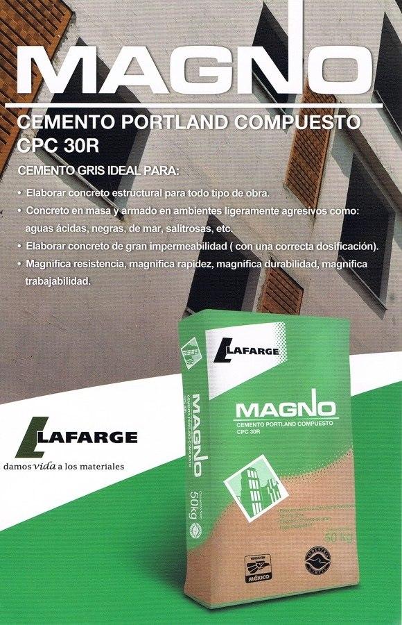 Cemento gris magno cpc 30 en mercado libre for Precio del mercado de concreto encerado