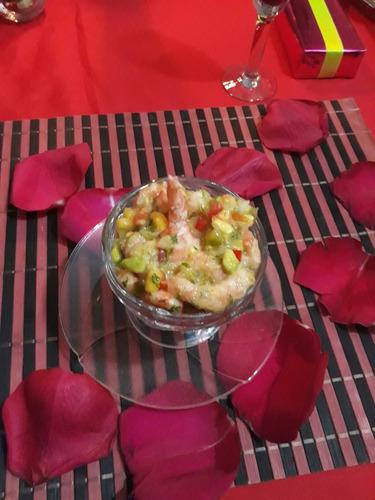 cena romántica a domicilio