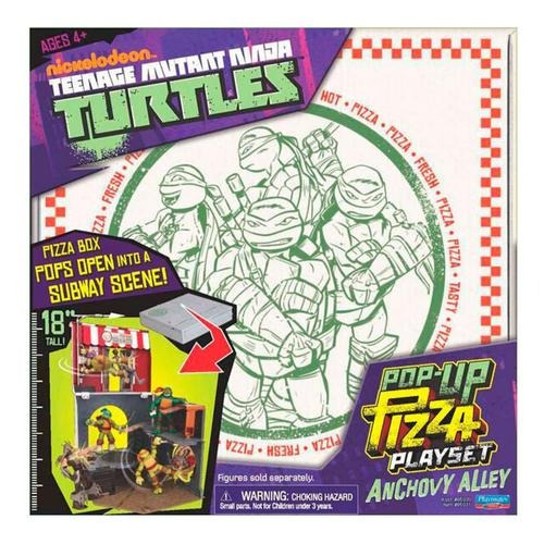 cenário tartarugas ninja playset pop-up - br155