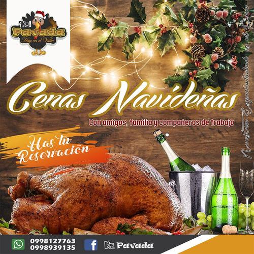 cenas, cenas navideñas, pavo, servicio de horneado