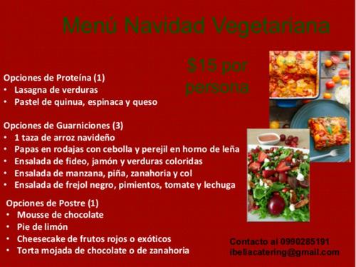 cenas navideñas a domicilio desde $12.50