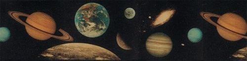 cenefa decorativa de planetas juego de 2 rollos