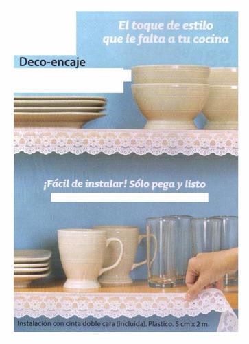 cenefa encaje para cocina decoracion pega y listo