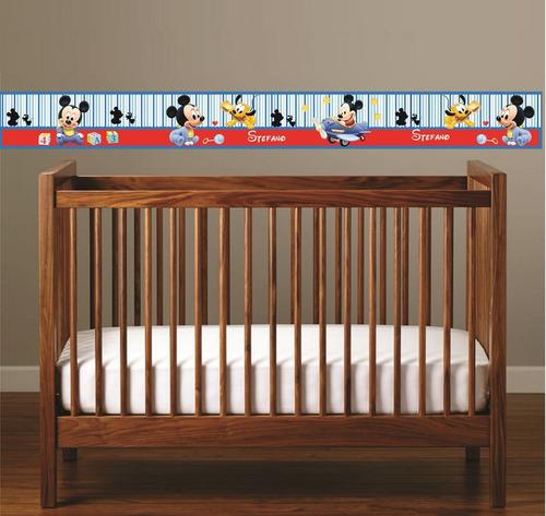cenefa mickey mouse- stickers -vinilos -decoracion bebe