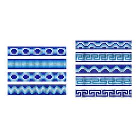 Cenefa Para Alberca  Espiral En Mosaico Veneciano Kolorines