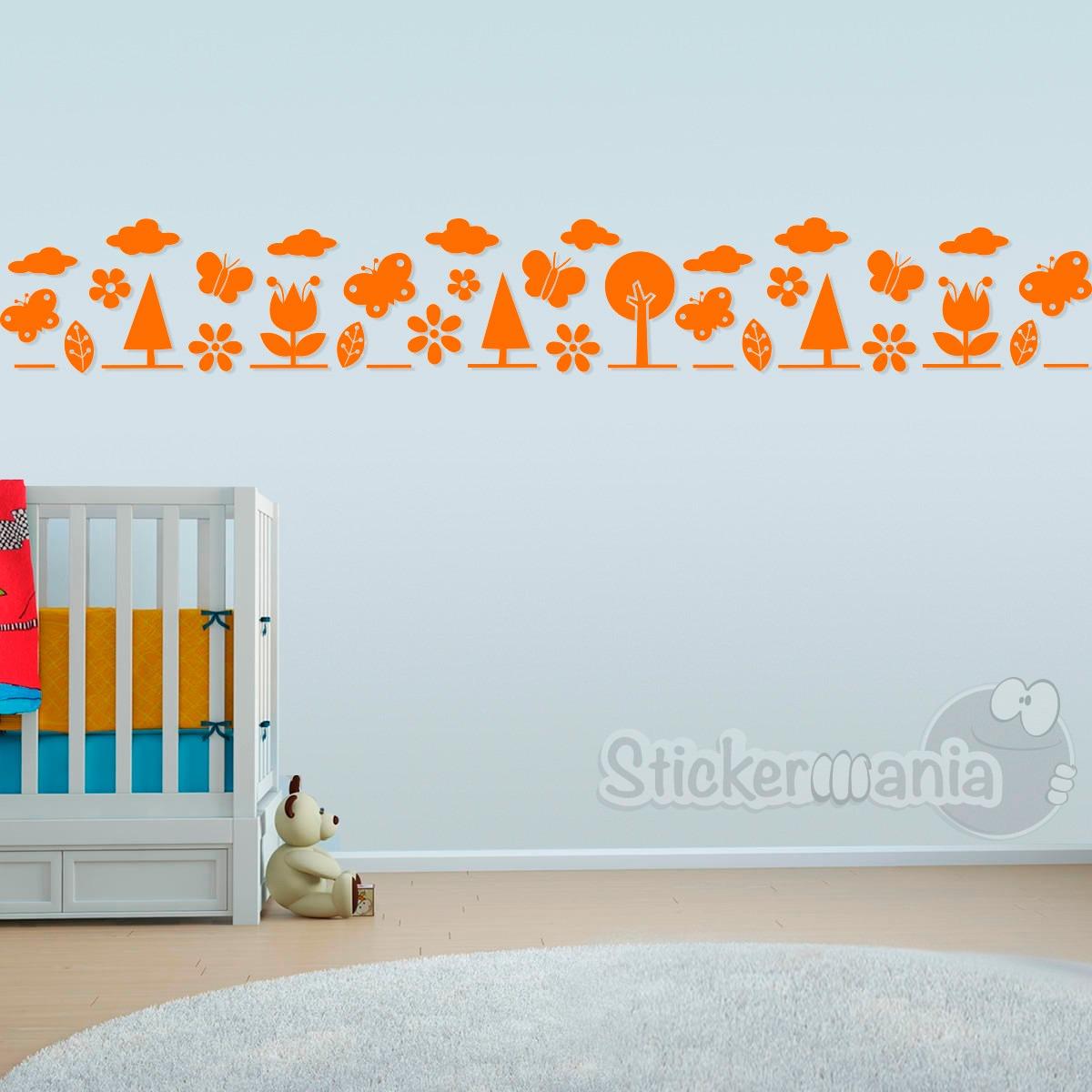 Cenefa Sticker Para Decorar Cuarto Niños Diseño Bosque 02 - U$S 5,00 ...