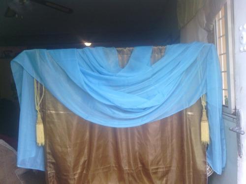 cenefas de seda celeste 7.50 x 0-50 mts