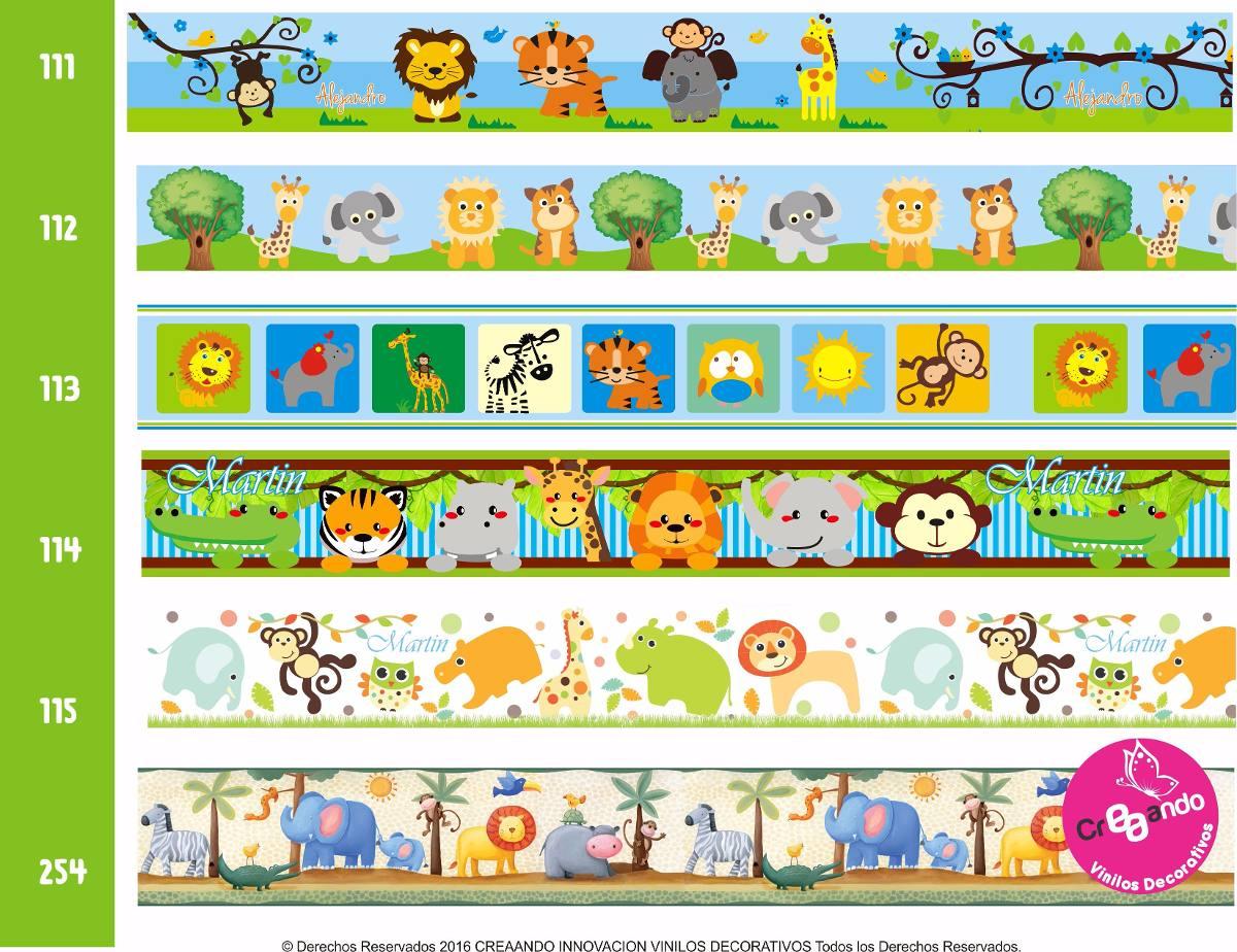 Cenefas decorativas adhesivas infantiles 8 mtsx18 cm cali en mercado libre - Cenefas decorativas infantiles ...