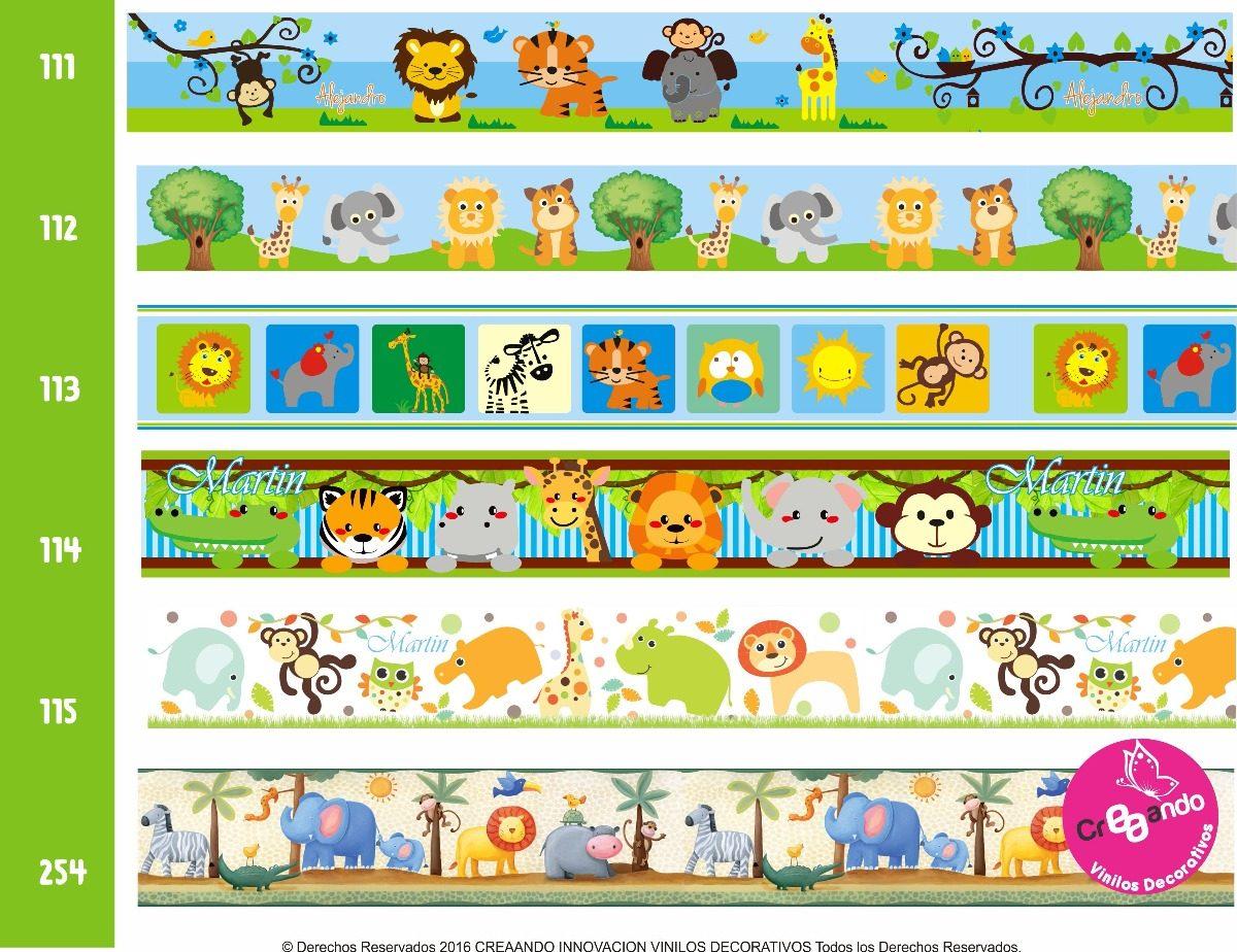 Cenefas decorativas adhesivas infantiles con nombre - Cenefas decorativas infantiles ...