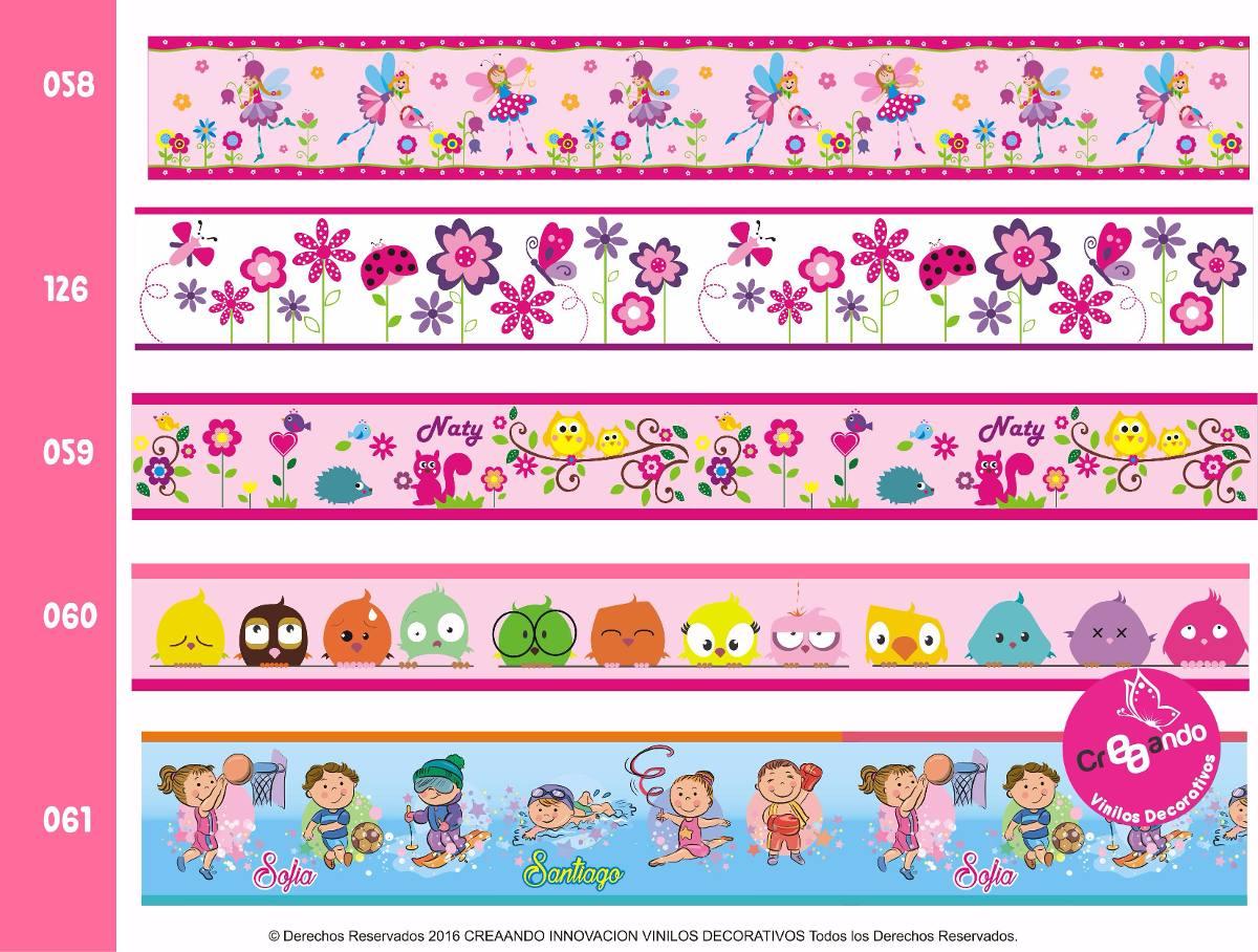 Cenefas decorativas adhesivas infantiles con nombre incluido en mercado libre - Cenefas decorativas infantiles ...