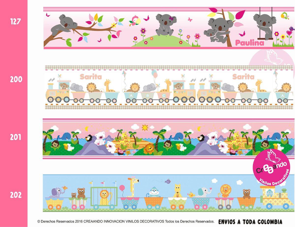 Cenefas decorativas adhesivas infantiles x18cm altura cali en mercado libre - Cenefas decorativas infantiles ...