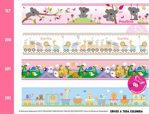 cenefas decorativas adhesivas infantiles x18cm altura/ cali