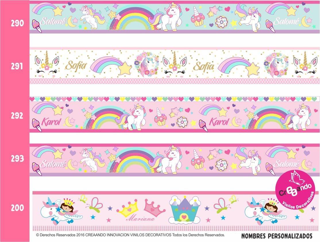 Cenefas decorativas princesas frozen hadas unicornios - Cenefas decorativas para imprimir ...