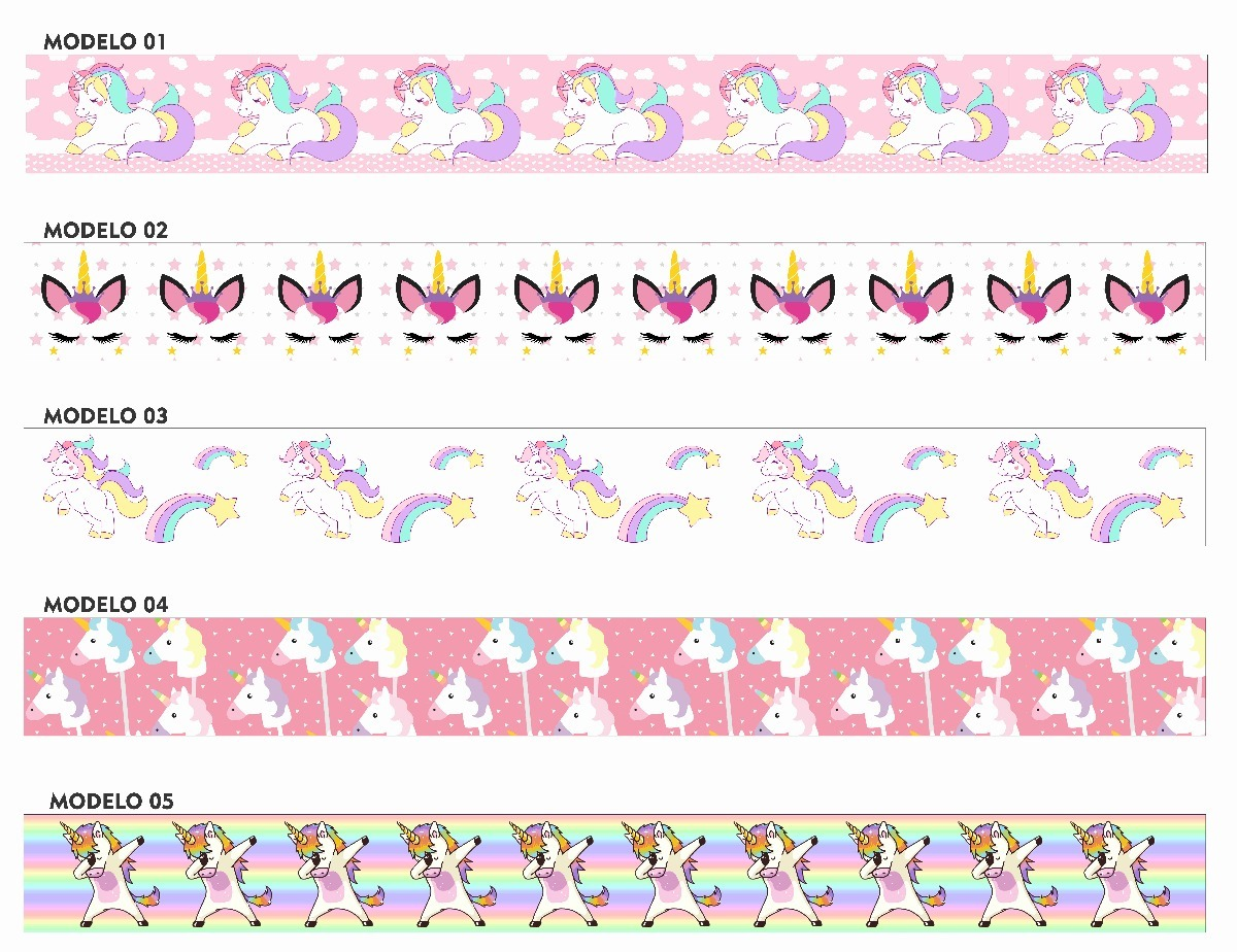 Cenefas decorativas unicornios decoracion recamara infantil en mercado libre - Cenefas de papel infantiles ...