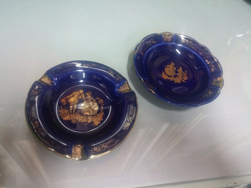 cenicero antiguo porcelana limoges france precio x c/u