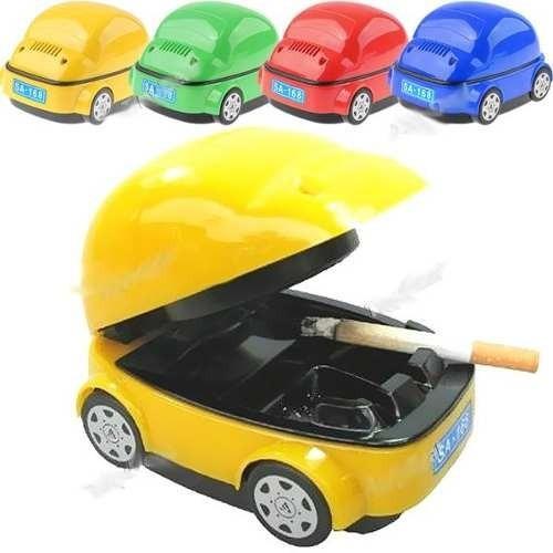 cenicero auto aspira humo