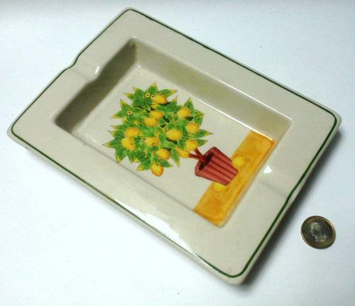 cenicero cerámica gran tamaño matero con limón
