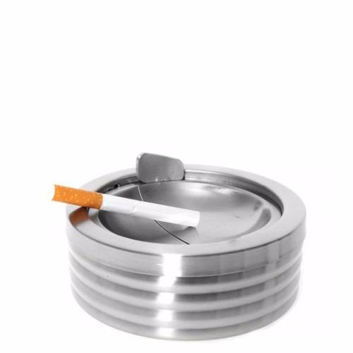 cenicero con depósito acero inoxidable diseño relieve namaro