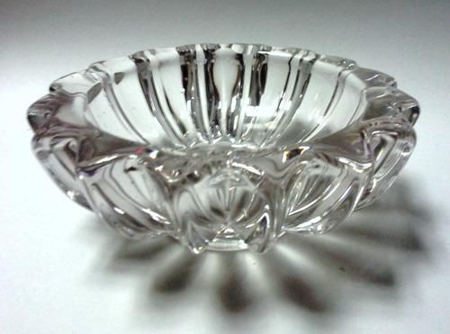 cenicero cristal francés firmado vaness