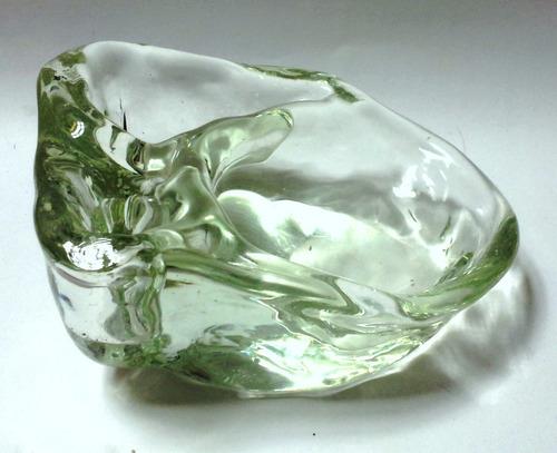 cenicero cristal murano forma orgánica tres orificios