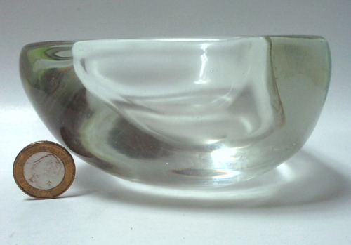 cenicero cristal murano grueso 60's triangular