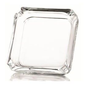 Cenicero Cuadrado En Vidrio Cristal Crisa Nuevo