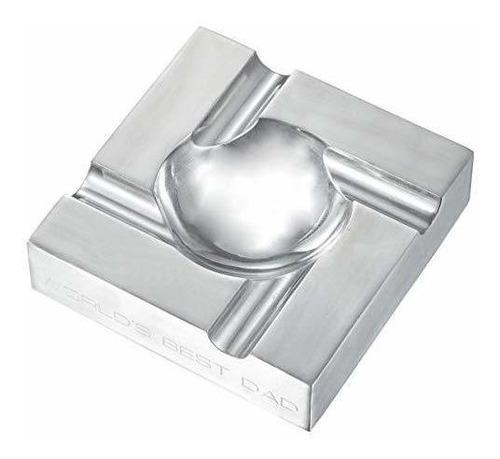 cenicero de cigarro de aluminio personalizado con grabado g