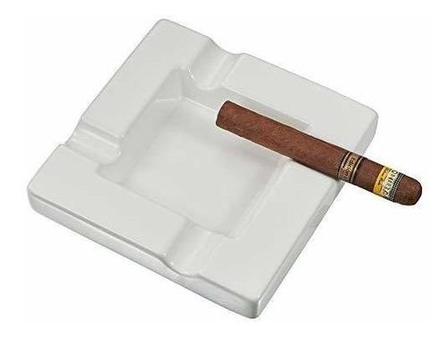 cenicero de cigarro de cerámica blanca visner renner