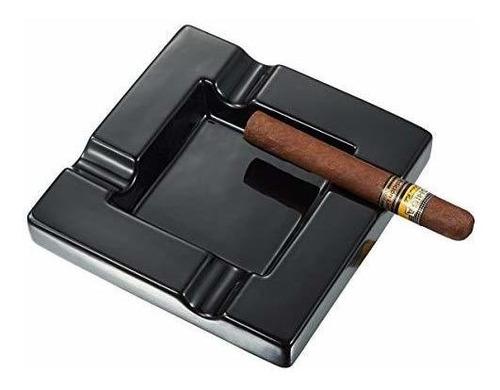 cenicero de cigarro de cerámica negro visner renner