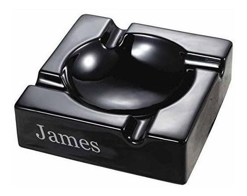cenicero de cigarro de cerámica negro visono donovan person