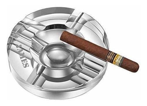 cenicero de cigarro de cristal redondo visol elara personal