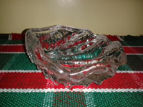 cenicero de cristal figura concha marina