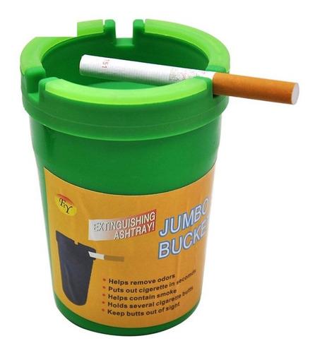 cenicero de plástico para coche, diseño de barril de cigarri