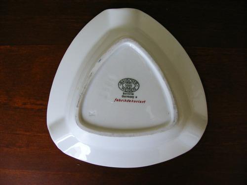cenicero de porcelana marca bauscher weiden hecho en bavaria