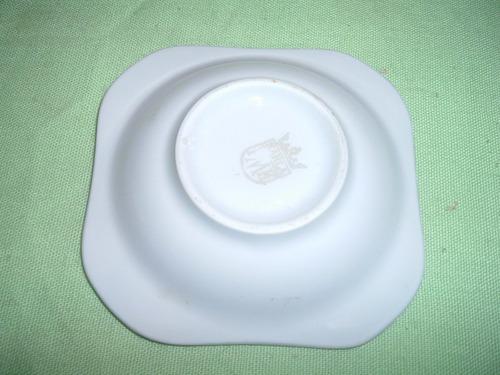 cenicero de porcelana perlecente