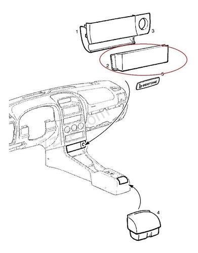 cenicero delantero consola astra original gm años 02-06 tp1