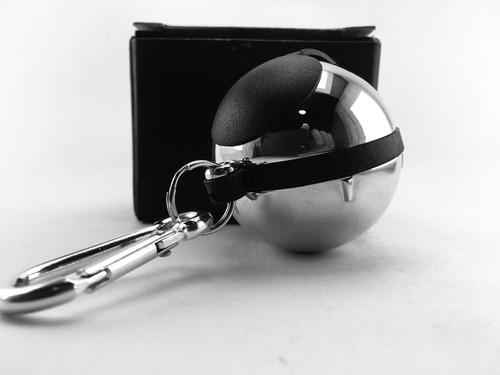 cenicero esfera, llavero personal, en acero. por banimported