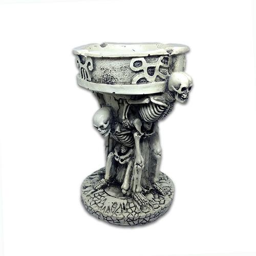 cenicero esqueletos griegos en resina 4 puestos