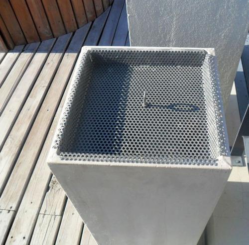 cenicero exterior no requiere arena, piedra ni mantenimiento