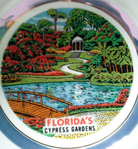 cenicero grande porcelana blanca cypress garden