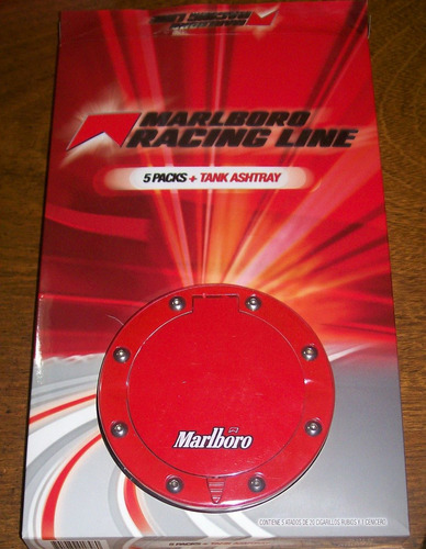 cenicero marlboro racing line - tank ashtray blister cerrado