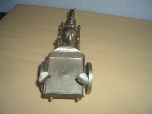 cenicero metalico carretita tres metales (una)
