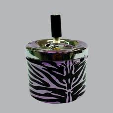 cenicero para cigarro negro para  casa diseño de cebra