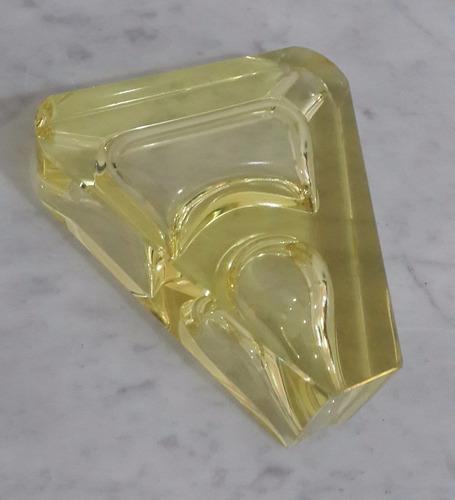 cenicero para pipa y cigarro encristal color amarillo
