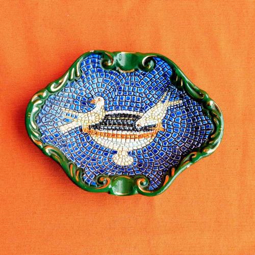 cenicero porcelana lavorato a mano in oro zecchino