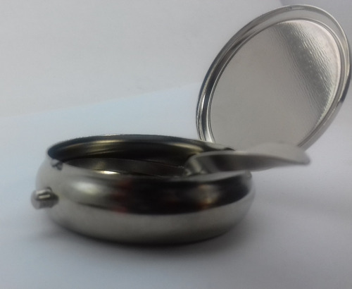 cenicero portatil acero inoxidable