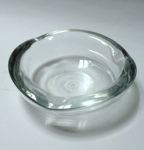cenicero vintage cristal murano redondo transparente