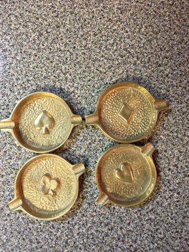 ceniceros de bronce x 4