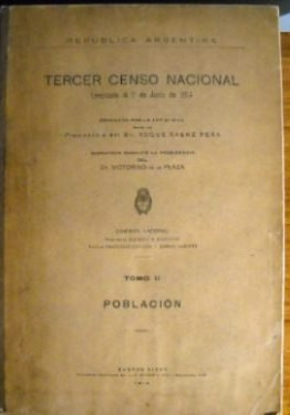 Resultado de imagen para tercer censo nacional