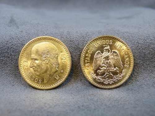 centenario 10 pesos de oro puro  moneda de 10 pesos